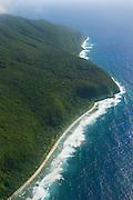 Aerial of ofu Island, Manua island group, American Samoa