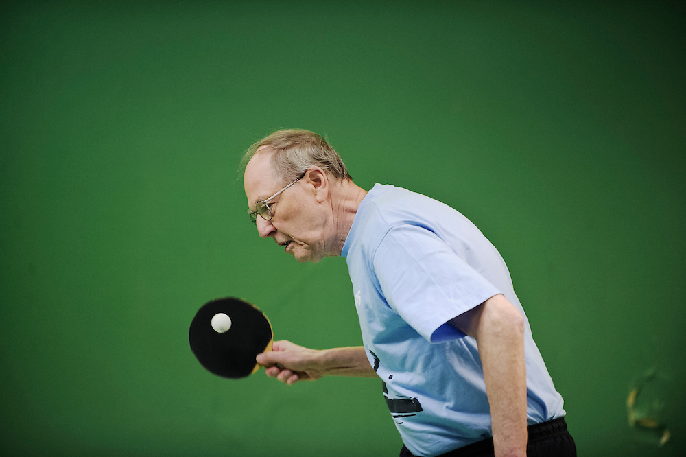 "Uno usually takes it easy when playing against teammates. But before a championship he calls a proffessional in the 50-60 year class to ""get up the footwork"". He is the Swedish champion in the 80 year class of mens veteran tabletennis."
