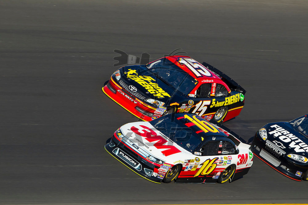 Daytona Beach, FL - Feb 23, 2012: Greg Biffle (16), drives through the turns during the Gatorade Duel 1 race at the Daytona International Speedway in Daytona Beach, FL.