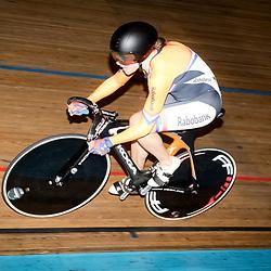 28-12-2015: Wielrennen: NK Baan: Alkmaar   <br />ALKMAAR (NED) baanwielrennen<br />Op de wielerbaan van Alkmaar streden de wielrenners om de nationale baantitels  <br />Laurine van Riessen pakt de titel op de 500meter tijdens het NK baanwielrennen