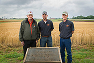 125th Harvest of Magruder Plots Field Day featured the 3 most recent custodians of the research plots, Current keeper Dr. Brian Arnall, and past caretakers Dr. Robert Westerman and Dr. Bill Raun.