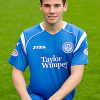 St Johnstone Photocall, Season 2010-11<br /> Kevin Moon<br /> Picture by Graeme Hart.<br /> Copyright Perthshire Picture Agency<br /> Tel: 01738 623350  Mobile: 07990 594431