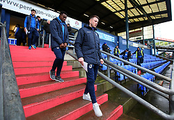 Ollie Clarke and Marc Bola of Bristol Rovers arrive at The Sportsdirect.com Park for the fixture against Oldham Athletic - Mandatory by-line: Robbie Stephenson/JMP - 30/12/2017 - FOOTBALL - Sportsdirect.com Park - Oldham, England - Oldham Athletic v Bristol Rovers - Sky Bet League One