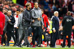 Liverpool manager Jurgen Klopp speaks to Virgil van Dijk of Liverpool - Mandatory by-line: Robbie Stephenson/JMP - 22/09/2018 - FOOTBALL - Anfield - Liverpool, England - Liverpool v Southampton - Premier League