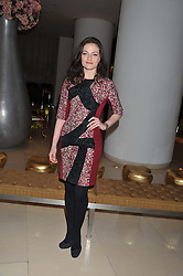 LARA PULVER at an after show party following the opening night of All New People held at the St.Martin's Lane Hotel, London on 28th February 2012.