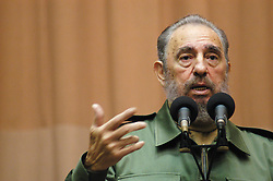 November 25, 2016 - File - FIDEL ALEJANDRO CASTRO RUZ (August 13, 1926 - November 25, 2016) Cuba's former president and leader of the Communist revolution, has died aged 90, state TV has announced Saturday. Castro led a revolution overthrowing the de facto military leader, Fulgencio Batista in 1959. Pictured: Aug 01, 2006; Havana, Cuba; Veteran Cuban leader Fidel Castro has temporarily handed power to his brother Raul because of illness. (Credit Image: © Michael A. Mariant/ZUMAPRESS.com)