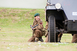 reenactors portray members of Fox Commando Royal Navy during a battle reenactment at Sheffield Fair at Norfolk Heritage Park Sheffield Bank Holiday Weekend.28th & 29th August 2011 Image © Paul David Drabble