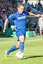 09.08.2015, Stadion Lohmühle, Luebeck, GER, DFB Pokal, VfB Luebeck vs SC Paderborn 07, 1. Runde, im Bild Michael Heinloth (Nr. 22, SC Paderborn) // during German DFB Pokal first round match between VfB Luebeck vs SC Paderborn 07 at the Stadion Lohmühle in Luebeck, Germany on 2015/08/09. EXPA Pictures © 2015, PhotoCredit: EXPA/ Eibner-Pressefoto/ KOENIG<br /> <br /> *****ATTENTION - OUT of GER*****