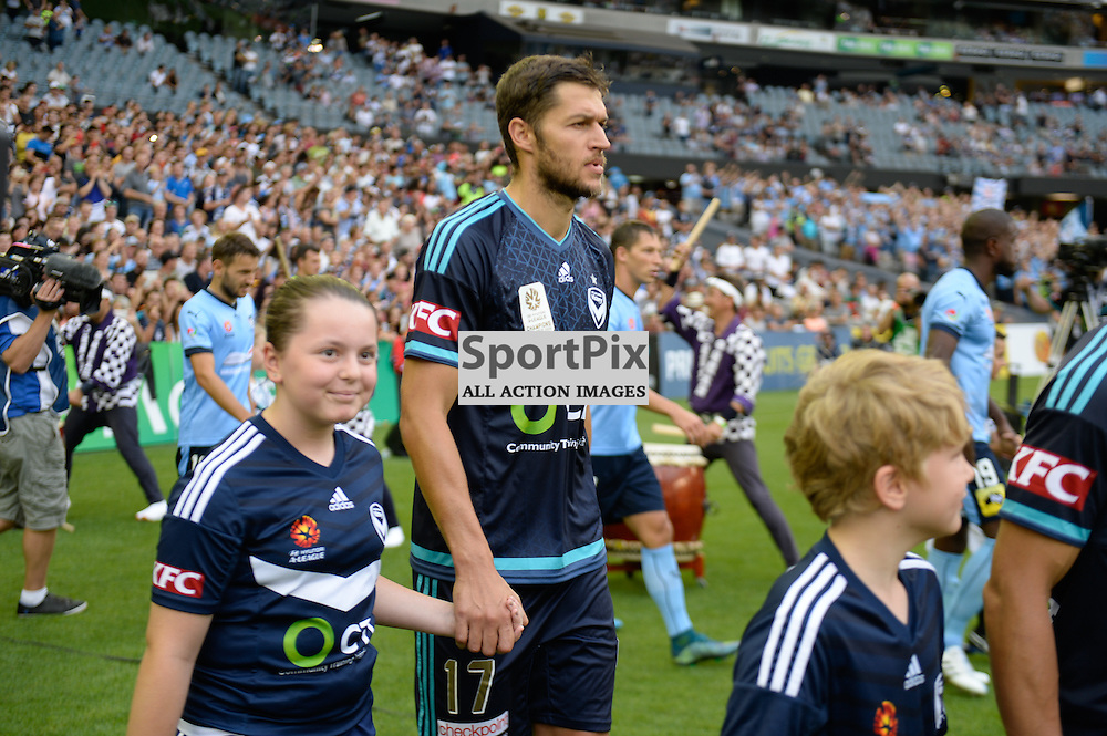 Matthieu Delpierre of Melbourne Victory, Hyundai A-League (Australia Day) - January 26th 2016 - RD16 - Melbourne Victory FC v Sydney FC at Etihad Stadium, Docklands, Melbourne, Australia in a 1:0 win to Victory - © Mark Avellino | SportPix.org.uk