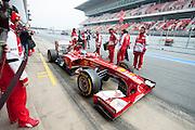 February 21, 2013 - Barcelona Spain. Fernando Alonso, Scuderia Ferrari pre-season testing from Circuit de Catalunya.