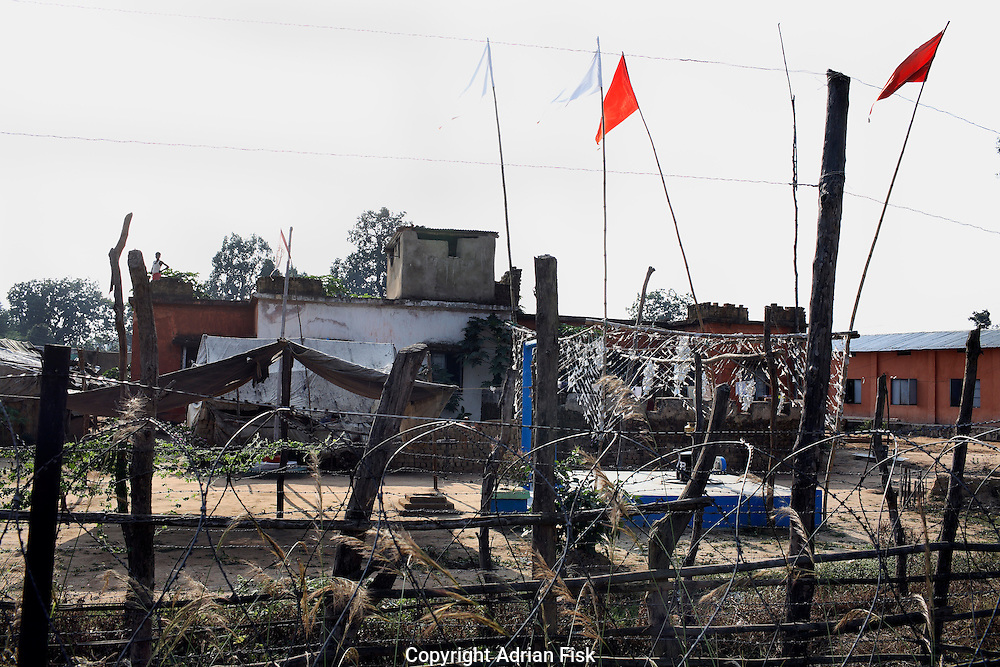 Police stations have become reminiscent of forts and are now protected by barbed wire and mines as with this one in Bastar district in south Chhattisgarh.