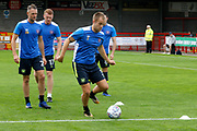 Carlisle United Defender Danny Grainger (3) warms up before kick off during the EFL Sky Bet League 2 match between Crawley Town and Carlisle United at the Checkatrade.com Stadium, Crawley, England on 30 September 2017. Photo by Andy Walter.