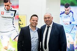 Ermin Rakovic and Radenko Mijatovic during SPINS XI Nogometna Gala 2017 event when presented best football players of Prva liga Telekom Slovenije in season 2016/17, on May 23, 2017 in Grand hotel Union, Ljubljana, Slovenia. Photo by Vid Ponikvar / Sportida