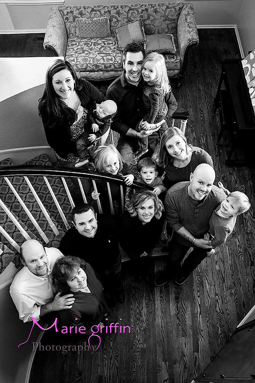 Burke Family photo session on Nov. 9, 2014. Bill and Vicki Burke, Mike Justine, Colton and Jackson Burke, Danny, Kacey and Jacob burke, Zack, Sarah, Payton and Parker Venn.<br /> Photography by: Marie Griffin Dennis<br /> mariegriffinphotography.com<br /> mariefgriffin@gmail.com