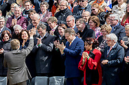 Tilburg, 27-04-2017 <br /> <br /> King Willem-Alexander celebrates his 50th birthday with Queen Maxima and their daughters Princess Amalia, Princess Alexia and Princess Ariane and members of the Dutch Royal Family in Tilburg<br /> <br />   <br /> <br /> <br /> COPYRIGHT: ROYALPORTRAITS EUROPE/ BERNARD RUEBSAMEN