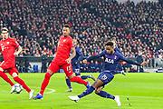 Tottenham Hotspur midfielder Ryan Sessegnon (19) shoots towards the goal during the Champions League match between Bayern Munich and Tottenham Hotspur at Allianz Arena, Munich, Germany on 11 December 2019.
