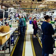 Fork assembly line.