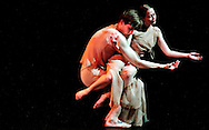 Philip Edgecombe and Kirsty Mackellar perform at the Storefront Theater located in the Gallery 37 Center for the Arts for Hedwig Dances' 2006 Fall Season..
