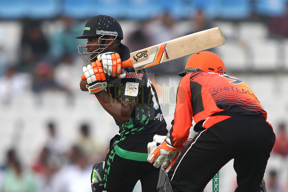 Khayelihle Zondo of the Dolphins pulls a delivery through the leg side during match 4 of the Oppo Champions League Twenty20 between the Dolphins and the Perth Scorchers held at the Punjab Cricket Association Stadium, Mohali, India on the 20th September 2014<br /> <br /> Photo by:  Shaun Roy / Sportzpics/ CLT20<br /> <br /> <br /> Image use is subject to the terms and conditions as laid out by the BCCI/ CLT20.  The terms and conditions can be downloaded here:<br /> <br /> http://sportzpics.photoshelter.com/gallery/CLT20-Image-Terms-and-Conditions-2014/G0000IfNJn535VPU/C0000QhhKadWcjYs