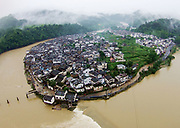 SHANGRAO, CHINA - JUNE 25: <br /> <br /> Torrential Rain Hits Jiangxi in china<br /> <br /> The bridge has been damaged by the flood caused by heavy rain in Wuyuan County  in Shangrao, Jiangxi Province of China. Torrential rain since last Thursday has affected people's life in many parts of south China. 93 people are still missing by Monday morning after a landslide in Sichuan. At least 22 are people dead and 6 are missing in Jiangxi, Guizhou, Hunan, Yunnan and Anhui, according to Xinhua Agency.<br /> ©Exclusivepix Media
