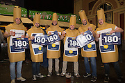 Fans in Fancy Dress during the PDC World Darts Championship Final at Alexandra Palace, London, United Kingdom on 3 January 2016. Photo by Phil Duncan.