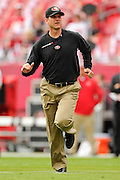 San Francisco 49ers head coach Jim Harbaugh during the 49ers 33-14 win over the Tampa Bay Buccaneers at Raymond James Stadium on December 15, 2013 in Tampa, Florida.                                    ©2013 Scott A. Miller