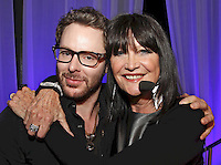 Sean Parker (Napster co-creator and founding president of Facebook) and host Sandie Shaw. The Artist and Manager Awards 2011, The Roundhouse, London..Tuesday, Sep.13, 2011