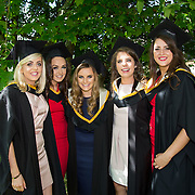 "25.08.2016          <br />  Faculty of Business, Kemmy Business School graduations at the University of Limerick today. <br /> <br /> Attending the conferring were Bachelor of Business Studies graduates, Nicole Freeman, Portroe Co. Tipperary, Alicia Collins, Glinsk Co. Galway, Amanda Hannon, Dunmore Co. Galway, Josephine Farrell, Craughwell Co. Galway and Kellie Quinn, Lisdowney Co. Kilkenny. Picture: Alan Place<br /> <br /> <br /> As the University of Limerick commences four days of conferring ceremonies which will see 2568 students graduate, including 50 PhD graduates, UL President, Professor Don Barry highlighted the continued demand for UL graduates by employers; ""Traditionally UL's Graduate Employment figures trend well above the national average. Despite the challenging environment, UL's graduate employment rate for 2015 primary degree-holders is now 14% higher than the HEA's most recently-available national average figure which is 58% for 2014"". The survey of UL's 2015 graduates showed that 92% are either employed or pursuing further study."" Picture: Alan Place"