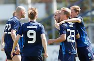 FODBOLD: Mikkel Dahl (Nykøbing FC) jubler efter scoringen til 1-0 under kampen i NordicBet Ligaen mellem Nykøbing FC og FC Helsingør den 7. maj 2017 i Nykøbing Falster Idrætspark. Foto: Claus Birch