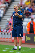 AFC Wimbledon assistant manager Glyn Hodges on the touchline during the EFL Sky Bet League 1 match between Sunderland and AFC Wimbledon at the Stadium Of Light, Sunderland, England on 24 August 2019.