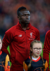 LIVERPOOL, ENGLAND - Tuesday, December 11, 2018: Liverpool's Sadio Mane lines-up before the UEFA Champions League Group C match between Liverpool FC and SSC Napoli at Anfield. (Pic by David Rawcliffe/Propaganda)