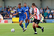 AFC Wimbledon defender Nesta Guinness-Walker dribbling during the Pre-Season Friendly match between AFC Wimbledon and Brentford at the Cherry Red Records Stadium, Kingston, England on 5 July 2019.