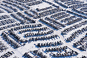Tar Sands, March 2010. Fort McMurray housing development and sprawl. Alberta Athabasca Tar Sands or Oil Sands.