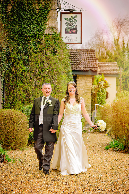 Wedding at the Walnut Tree in Blisworth, Northampton.