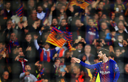 Lionel Messi of Barcelona celebrates after scoring his sides first goal - Mandatory by-line: Matt McNulty/JMP - 14/03/2018 - FOOTBALL - Camp Nou - Barcelona, Catalonia - Barcelona v Chelsea - UEFA Champions League - Round of 16 Second Leg