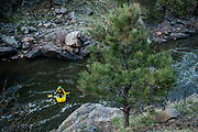 Paddling on the Poudre River with Zach Patterson, Anna and Austin.