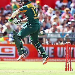 Cape Town, SOUTH AFRICA,  2016 - 14 February, AB de Villiers (c) with Hashim Amla during the 5th South Africa v England 1 Day match at PPC  Newlands Cape Town, South Africa. (Photo by Steve Haag)<br /> <br /> Images for social media must have consent from Steve Haag