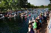 Starting line, Spring Lake, San Marcos, TX 6/8/13<br /> Texas Water Safari 2013<br /> Photo by Ashley Landis