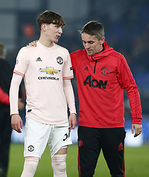 February 27, 2019 - London, England, United Kingdom - Manchester United's James Garner have words with Kieran McKenna First Team Coach.during English Premier League between Crystal Palace and Manchester  United at Selhurst Park stadium , London, England on 27 Feb 2019. (Credit Image: © Action Foto Sport/NurPhoto via ZUMA Press)