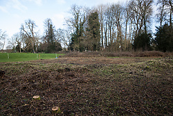Denham, UK. 4 February, 2020. An area cleared for works for the HS2 high-speed rail link close to the river Colne and Denham Country Park. Planned works in the immediate area are believed to include the felling of 200 trees and the construction of a roadway, Bailey bridge, compounds, fencing and a parking area. The other side of the river bank lies within a wetland nature reserve forming part of a Site of Metropolitan Importance for Nature Conservation (SMI). Credit: Mark Kerrison/Alamy Live News