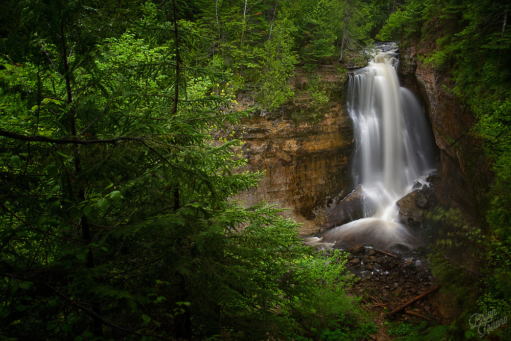 As the ground thaws, it bring the streams and waterfalls back to life. At Miners Falls in Pictured Rocks National Lakeshore, the winter's lake-effect snow melts and rushes off the sandstone cliffs right back into the lake. Only to begin the whole cycle over again.