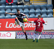 Dundee&rsquo;s Cammy Kerr and Hamilton&rsquo;s Giannis Skondras - Dundee v Hamilton Academical in the Ladbrokes Scottish Premiership at Dens Park, Dundee, Photo: David Young<br /> <br />  - &copy; David Young - www.davidyoungphoto.co.uk - email: davidyoungphoto@gmail.com