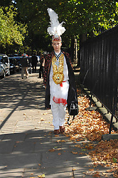DANIEL LISMORE at the memorial service of Isabella Blow held at the Guards Chapel, London W1 on 18th September 2007.<br /><br />NON EXCLUSIVE - WORLD RIGHTS