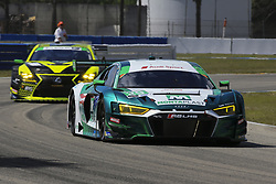 March 14, 2019 - Sebring, Etats Unis - 29 MONTAPLAST BY LAND MOTORSPORT (USA) AUDI R8 LMS GT3 GTD DANIEL MORAD (CAN) CHRISTOPHER MIES (CAN) RICARDO FELLER  (Credit Image: © Panoramic via ZUMA Press)