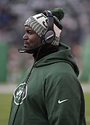 Dec 24, 2017; East Rutherford, NJ, USA; New York Jets head coach Todd Bowles reacts during an NFL football game against the Los Angeles Chargers at MetLife Stadium. The Chargers defeated the Jets 14-7.