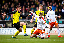Jake Hesketh of Burton Albion falls under a challenge from Jamie Allen of Burton Albion - Mandatory by-line: Robbie Stephenson/JMP - 27/04/2019 - FOOTBALL - Pirelli Stadium - Burton upon Trent, England - Burton Albion v Luton Town - Sky Bet League One