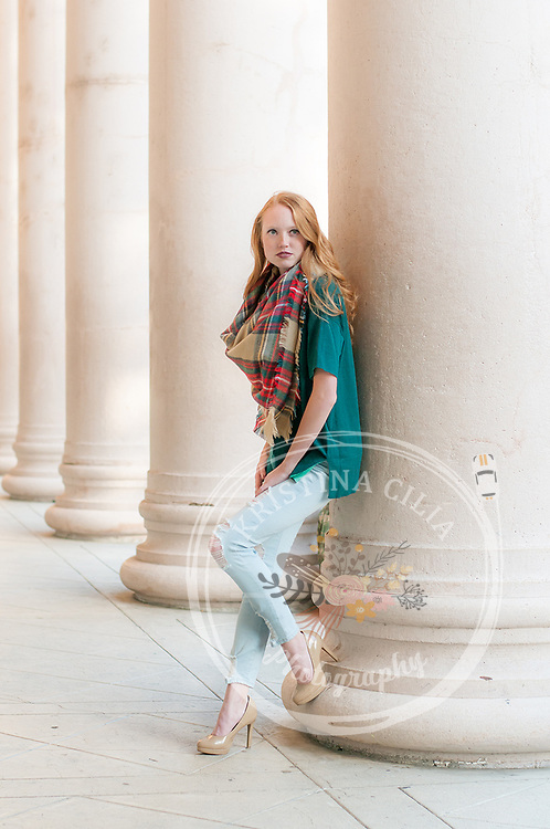 Vacaville Girls High School Deluxe Senior Portrait Session by Kristina Cilia Photography of Vacaville, CA