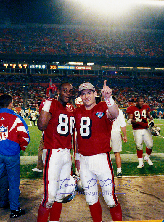 &copy;Tom DiPace Photography 2005<br /> All Rights Reserverved<br /> 561-968-0600   <br /> Steve Young  &amp; Jerry Rice SF 49ers SuperBowl 1994<br /> MVP of Super Bowl XXIX<br /> By Tom DiPace&copy;