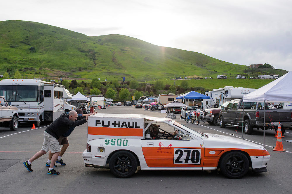 Sonoma, California - March 20, 2015: The 24 Hours of LeMons is a national endurance race circuit for cars that were purchased for less than $500. The Sears Pointless race, held at the Sonoma Raceway, is the LeMons' most popular race.<br /> CREDIT: Matt Roth