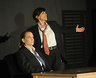 Marty Dunbar (right) and Clara Lee Arnold rehearse the play Clandestine as part of the Ten Minute Plays in Oxford, Miss.  on Tuesday, September 20, 2011.